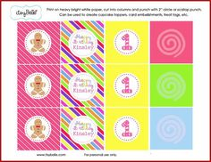 Candy Land Party Collection   Sweet Shop PRINTABLE PARTY CIRCLES by ItsyBelle, 10.00