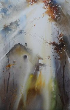 Artist Ilya Ibryaev - AUTUMN - watercolor (53х37) cm https://www.facebook.com/ilya.ibryaev