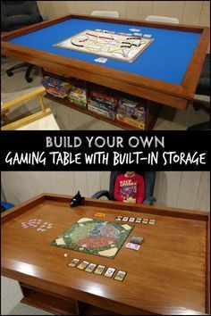 Build Your Own Gaming Table With Plenty Of Storage Table Games