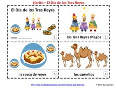 Spanish Three Kings Day 2 Elementary Emergent Reader Booklets - Dia de los Tres Reyes - 1 with text and images, 1 with text only so students can sketch and create their own versions of the booklets.