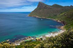 Beautiful mountainous scenery at the beach in Cape of good hope, Cape Town, South Africa Cape Town, South Africa, Cycling, Scenery, Tours, Explore, Beach, Water, Outdoor