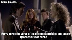 Dating Tip #104: Marry her on the verge of the destruction of time and space. Beaches are too cliche