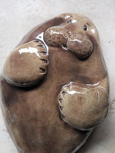 Manatee Wall Hanging by Dragonware on Etsy