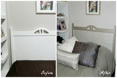 Painted and Stenciled Headboard with Modern Masters Metallic Paints | Hometalk Projects on the Modern Masters Cafe Blog