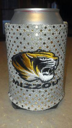 Licensed University of Missouri Mizzou Koozie by DrinkEnvy on Etsy, $14.97