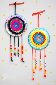 Push any nightmares away with these colorful, fun and easy-to-make dream catchers