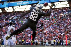How does the Titans Delanie Walker compare to the NFL's other tight end Pro Bowl candidates