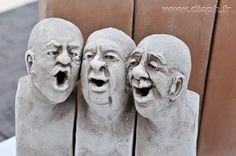 senior men have no stretch Ceramic Mask, Ceramic Clay, Pottery Sculpture, Sculpture Clay, Creta, Ceramic Figures, Art Plastique, Portrait Art, Face Art