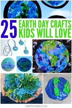 Fabulous tried and tested Earth Day crafts for kids. Simple and fun craft ideas, sensory, painting, upcycling and nature crafts they'll love.: