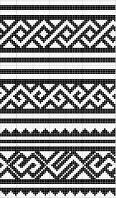 Charted Patterns from Medieval Egypt - Pattern Darning Tapestry Crochet Patterns, Mosaic Patterns, Knitting Patterns, Inkle Weaving Patterns, Cross Stitch Tree, Cross Stitch Bookmarks, Crochet Chart, Crochet Motif, Celtic Patterns