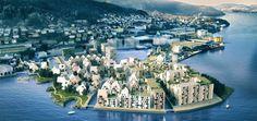 COWI har sammen med Nordic Architecture og SLA vunnet konkurransen om tidenes største byutviklingsprosjekt i Bergen.    Foto: Illustrasjon: ...