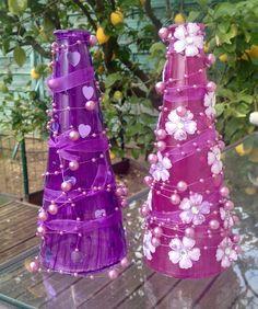Very nice bottle design/violet colors/bottle decoration