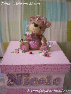 Decorate my boxes for the girls like this  porcelana fria polymer clay