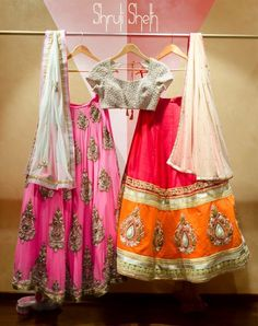 pink lehenga with zari & gota Pakistani Outfits, Indian Outfits, Indian Clothes, Indian Attire, Indian Ethnic Wear, Western Dresses, Indian Dresses, Desi Wear, Anarkali