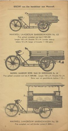 Prijscourant Maxwell 1939   transportfiets.net