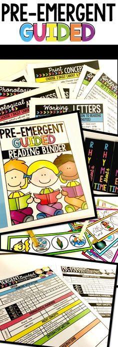 Guided Reading Bundle for your youngest readers!  Printable lesson plan included will save you loads of time!  Covers essential literacy skills!