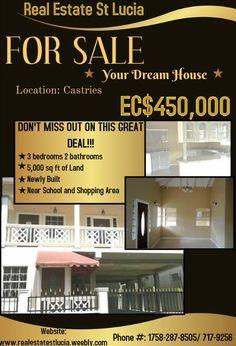 Location: Castries Price: US$168,540 (EC$450,000)