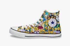 Converse All Star The Simpsons Chuck Taylors for the wedding day.