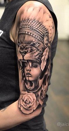 30 Tatuagens na parte superior do braço feminino | TopTatuagens Dope Tattoos, Native Tattoos, Forarm Tattoos, Badass Tattoos, Viking Tattoos, Leg Tattoos, Body Art Tattoos, Sleeve Tattoos, Indian Women Tattoo