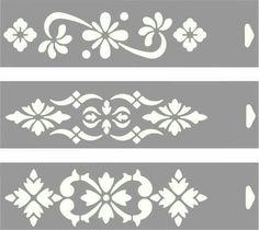 Bildresultat för stencil for decoupage Stencil Patterns, Stencil Designs, Paint Designs, Motif Arabesque, Decoupage, Stencils, Plasma Cutter Art, Cnc Cutting Design, Diy Leather Bracelet