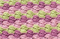Meadow Afghan Square - Free Crochet Pattern