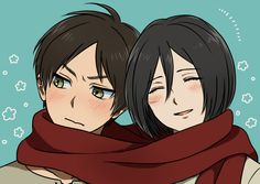 Eren and Mikasa ♡ EreMika | Shingeki no Kyojin (Attack on Titan) #SnK