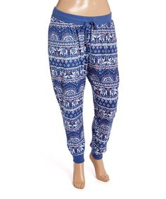 Another great find on #zulily! Indigo Elephant Joggers - Plus #zulilyfinds