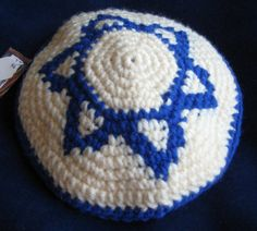 Star of David Yarmulke Crochet Pattern  PDF by HandmadeNeedleArts, $4.00