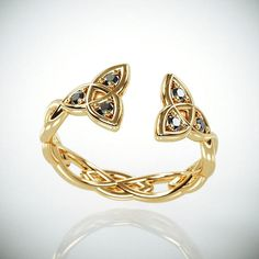 Hey, I found this really awesome Etsy listing at https://www.etsy.com/il-en/listing/568226007/14k-gold-celtic-trinity-knot-wedding