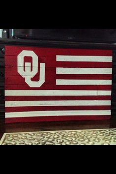 For the Love of Pallets. The University of Oklahoma Flag https://www.facebook.com/fortheloveofpallets.tx