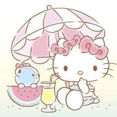 Hello Kitty My Melody, Sanrio Hello Kitty, 1974 Birthday, Miss Kitty, Sanrio Characters, Picts, Kawaii Drawings, Anime Demon, Kawaii Anime