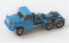 Semitrailer Truck 6x6 Tatra T148 NTt Free Vehicle Paper Model Download