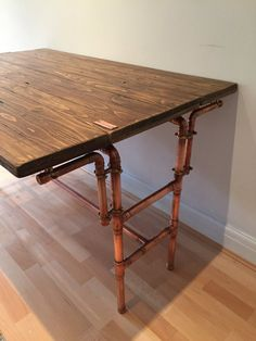 Reclaimed Pallet Table With Folding Sides And By CopperJacks