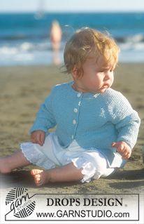 Quentin / DROPS Baby - Jacke mit Raglanschrägung in Safran Baby Knitting Patterns, Baby Patterns, Crochet Patterns, Baby Cardigan, Baby Vest, How To Start Knitting, Knitting For Kids, Free Knitting, Crochet Baby Jacket