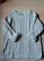 gruby sweter pleciony / gruby sweter / oversize sweter / okazja