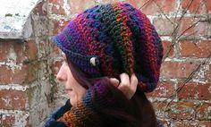 Zeitungsjunge Mütze  lila, Beaniemütze , von BeUn.crafts auf DaWanda.com