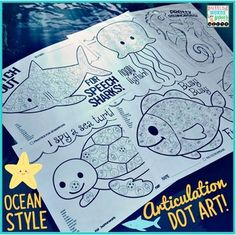 Articulation Dot Art ~ Ocean Edition {all sounds and NO PREP!} for speech/articulation therapy ~ Perfect for busy little hands!