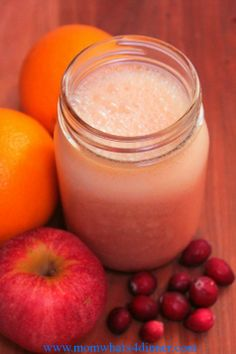 Cranberry Orange Smoothie | Mom! What's for Dinner?