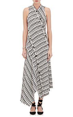 We Adore: The Bias-Cut Plaid Tweed Long Dress from Proenza Schouler at Barneys New York