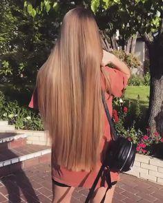 Thin Hair Haircuts, Straight Hairstyles, Beautiful Long Hair, Gorgeous Hair, Hip Length Hair, Hair Up Styles, Long Hair Video, Super Long Hair, Aesthetic Hair