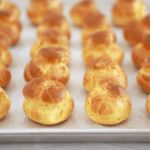 Easy Choux Pastry Recipe (With Video) - Gemma's Bigger Bolder Baking From profiteroles to Croquembouche, my Easy Choux Pastry Recipe will have you making adorable and delicious light puffs in no time! Easy Pastry Recipes, Sweet Recipes, Baking Recipes, Cake Recipes, Dessert Recipes, Tea Recipes, Baking Ideas, Profiteroles Recipe, Pate Choux Recipe