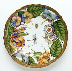 Exquisite hand-painted porcelain dinnerware by Anna Weatherley.