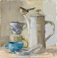 Bird and Teacup by Becca  Kallem
