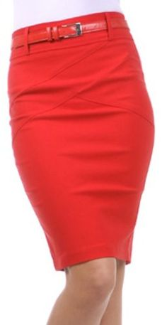 6867647e1 Knee Length Stretch Pencil Skirt with Skinny Belt: Amazon.com: Clothing  Stretch Pencil