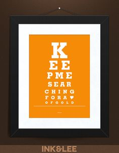 Eye Chart Print Keep Me Searching by InkandLee on Etsy