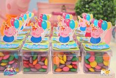 party favors - Peppa Pig themed birthday party via Kara's Party Ideas… Cumple George Pig, Peppa Pig Y George, George Pig Party, Fiestas Peppa Pig, Cumple Peppa Pig, 2 Birthday, 2nd Birthday Parties, Pig Candy, Peppa Pig Family