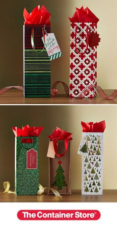 """Love spreading holiday """"spirits"""" to your friends? Our gift bags make a spectacular presentation."""