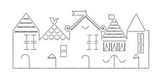 Risultati immagini per christmas paper houses templates Christmas Paper Crafts, Handmade Christmas Decorations, Noel Christmas, Tea Light Candles, Tea Lights, House Template, Christmas Village Houses, Christmas Villages, Paper Houses