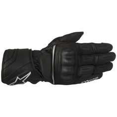 Black Waterproof Gloves, Print Logo, Large Black, Cold Weather, Touring, Bike, Lineage, Leather, Philosophy