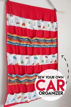 Best Sewing Projects to Make For Boys - Car Organizer - Creative Sewing Tutorials for Baby Kids and Teens - Free Patterns and Step by Step Tutorials for Jackets, Jeans, Shirts, Pants, Hats, Backpacks and Bags - Easy DIY Projects and Quick Crafts Ideas http://diyjoy.com/cute-sewing-projects-for-boys